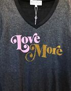 Wildfox Couture Womens Love More Vneck Soft Bbj Jumper Sweater Top Black