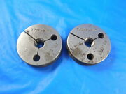 7/16 14 Nc Thread Ring Gages .4375 Go No Go P.d.and039s= .3810 And .3760 Inspection