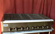 New 48 Radiant Char Broiler Gas Grill Stratus Srb-48 1231 Bbq Burger Commercial