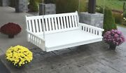 Outdoor 6 Foot Traditional English Swing Bed - Multiple Colors - Amish Made Usa