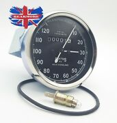 Smiths Speedometer 120 Mph Replica Royal Enfield Bsa Norton Free Bulb And O-ring