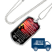Great Dad To Son Perfect Gifts Dog Tag From Father Daddy Papa, Birthday Presents