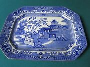 1920s Burgess And Leigh Burleigh Ware Willow Pattern Tray England Original