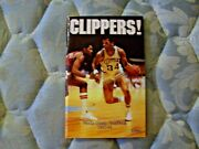1983-84 San Diego Clippers Media Guide Yearbook 1984 Last Sd Year Program Ad