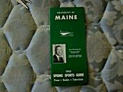 1965 Maine Baseball Media Guide Yearbook 1964 College World Series Track Golf Ad