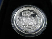 2012 1 High Relief Kookaburra 1oz Silver Proof Coin In Box As Minted + Cert