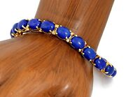 Rare Vtg R.h And Company Natural Lapis Lazuli 24.60 Tcw In 14k Solid Yellow Gold