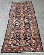 3and0396 X 9and0398 Ft Beautiful Antique Persian Aher Meshkin Wool Oriental Runner Rug