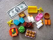 Miniature Doll House Loving Family Fisher Price ● Food Pet Bread Basket ● Lot 15