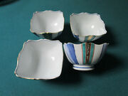 4 Chinese Ceramic Serving Bowls Hand Painted