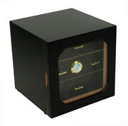Quality 80 Count Cigar Humidor Box Wooden Venner Humidifer With Hygrometer X