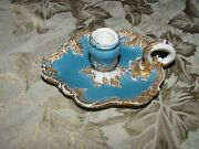 Extremly Rare Meissen Chamber Candlestick -very Good Condition