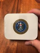 President Seal Of United States Bush Full Whitman Candy Tin Collectible Mg