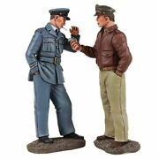 W Britain Toy Soldiers 25029 Wwii Ww2 Usaaf Pilot Lighting Cigarette For Pilot