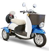 Blue And White Ewheels Ew-11 Sport Electric Scooter 3 Wheels 18 Mph 2 Riders