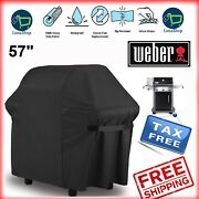 Weber Bbq Gas Grill Cover 57 Genesis Spirit Series Outdoor Barbeque Heavy Duty