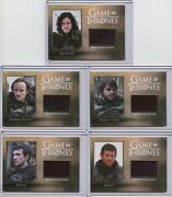 2016 Game Of Thrones Season 5 Nightand039s Watch Relic Set Cc1-cc5 5 Cards /250