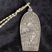 1995 Vermont Abc 35th Anniversary Medal And Necklace Automobile Car Racing