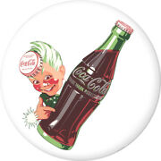 Coca-cola Sprite Boy Disc White Removable Wall Decal Button Style