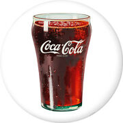Coca-cola Bell Glass Disc White Removable Wall Decal Button Style