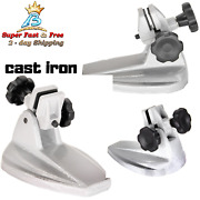 Precision Cast Iron Machinist Micrometer Adjustable Holder Stand Base Inspection