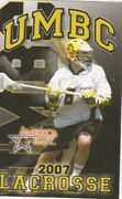 2007 University Of Maryland Baltimore County Retrievers Lacrosse Pocket Schedule