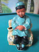 Mccarty Brothers California Pottery Planter Vase, 40s, Chinesse Boy [main]
