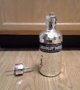 Absolut Vodka - Empty Disco Mirror Cover 700ml 2nd Skin W/ Bottle Pourer And Cap