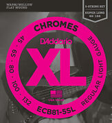 Dand039addario Ecb81-5sl Flatwound Bass Strings - Super Long Scale Med. 5and039s 45-132