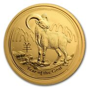 2015 1/2 Oz Gold Australian Perth Mint Lunar Year Of The Goat Coin