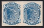 Us 73e6c 10c Essay On Card Pair In Blue Scv 1200