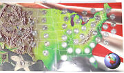 Usa Coin Collectors Map Complete 50 State Quarter 1999-2008 P Mint Rare Cover.