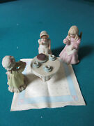 Childhood Remembrance Schmid Doll Tea Party Figurines Orig