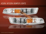 Fit For 94 95 96 97 Acura Integra Clear Signal Bumper Lights