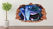 Monster Inc Wall Decal Living Room Or Room 3d Wall Paper Sticker J348
