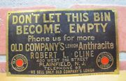 1920s Old Company's Lehigh Anthracite Coal Brass Sign Robert Cline Plainfield Nj