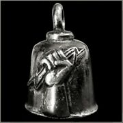 Pewter Motorcycle Gremlin Bell Electrician Hand Lightning Bolt Made In The Usa