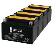 Mighty Max Ytx7a-bs Battery Replaces Yamaha Suzuki Kymco Honda Sym - 4 Pack