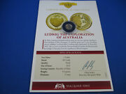 2013 Republic Of Palau Ludwig Macquarie Mint - The Smallest Gold Coin -