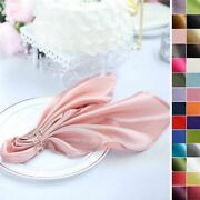 20 Satin Napkins Wedding Party Baby Shower Table Supply Decorations Wholesale