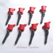 8pc Ignition Coil Ufd267r For Ford Lincoln Mercury V8 V10 Epoxy Red Dg508