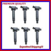 6pc Jsc284 Uf495 Ignition Coil For Scion Lexus Toyota Camry Tacoma Tundra