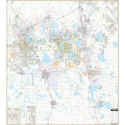 Polk County, Lakeland And Winter Haven, Fl Wall Map