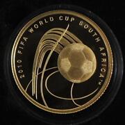 2009 Israel Fifa Football/soccer World Cup 2010 South Africa 1/4 Oz Gold Coin