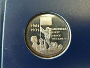 Americaand039s First Space Decade Commemorative Set Limited Edition Danbury Mint Coin