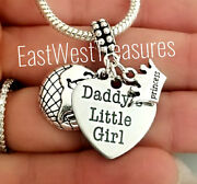 Daddyand039s Girl World Princess Father Daughter Pendant-for Bracelet Necklace Gift