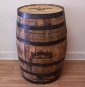 Jack Daniels Whiskey Barrel Branded And Engraved -man Cave Items- Free Shipping