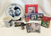 Elvis Presley Misc Lot, Plate, Mug, Picture Frame, And Switchplates, Etc.