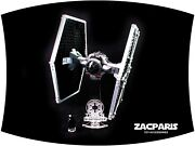 Deluxe Stand For Lego 9492 Tie Fighter - Features 3d Name Plate. Very Nice