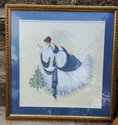 Hand Finished And Custom Framed Ice Angel Counted Cross Stitch Heavenly